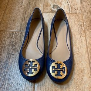 Blue Tory Burch Flats